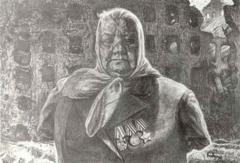 Опаленные войной. Рисунок Геннадия Доброва