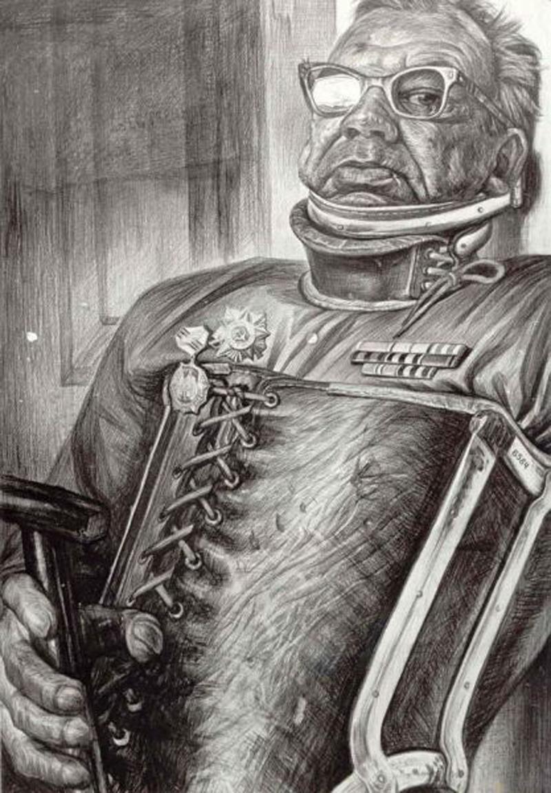 Партизан. Рисунок Геннадия Доброва
