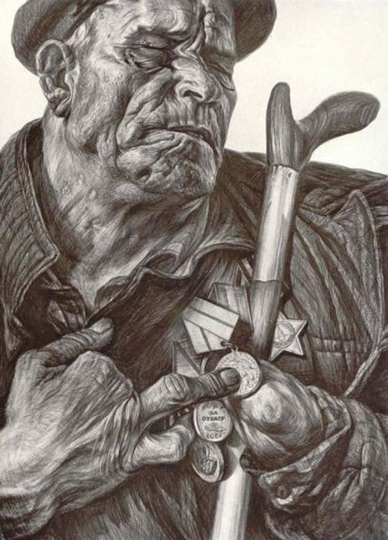 Рассказ о медалях. Рисунок Геннадия Доброва