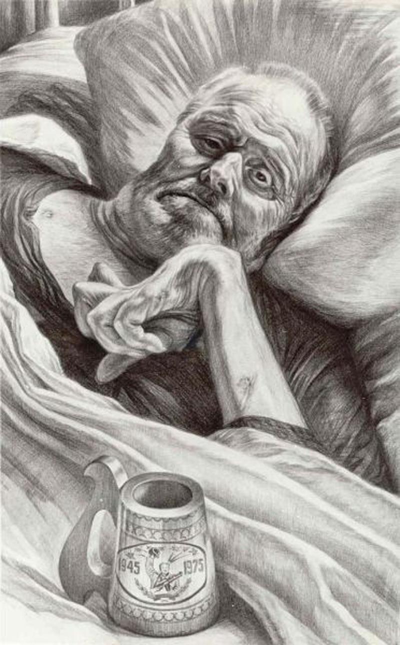 Рядовой войны. Рисунок Геннадия Доброва