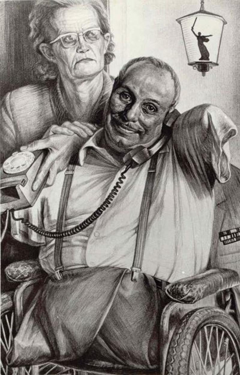 Семья. Рисунок Геннадия Доброва