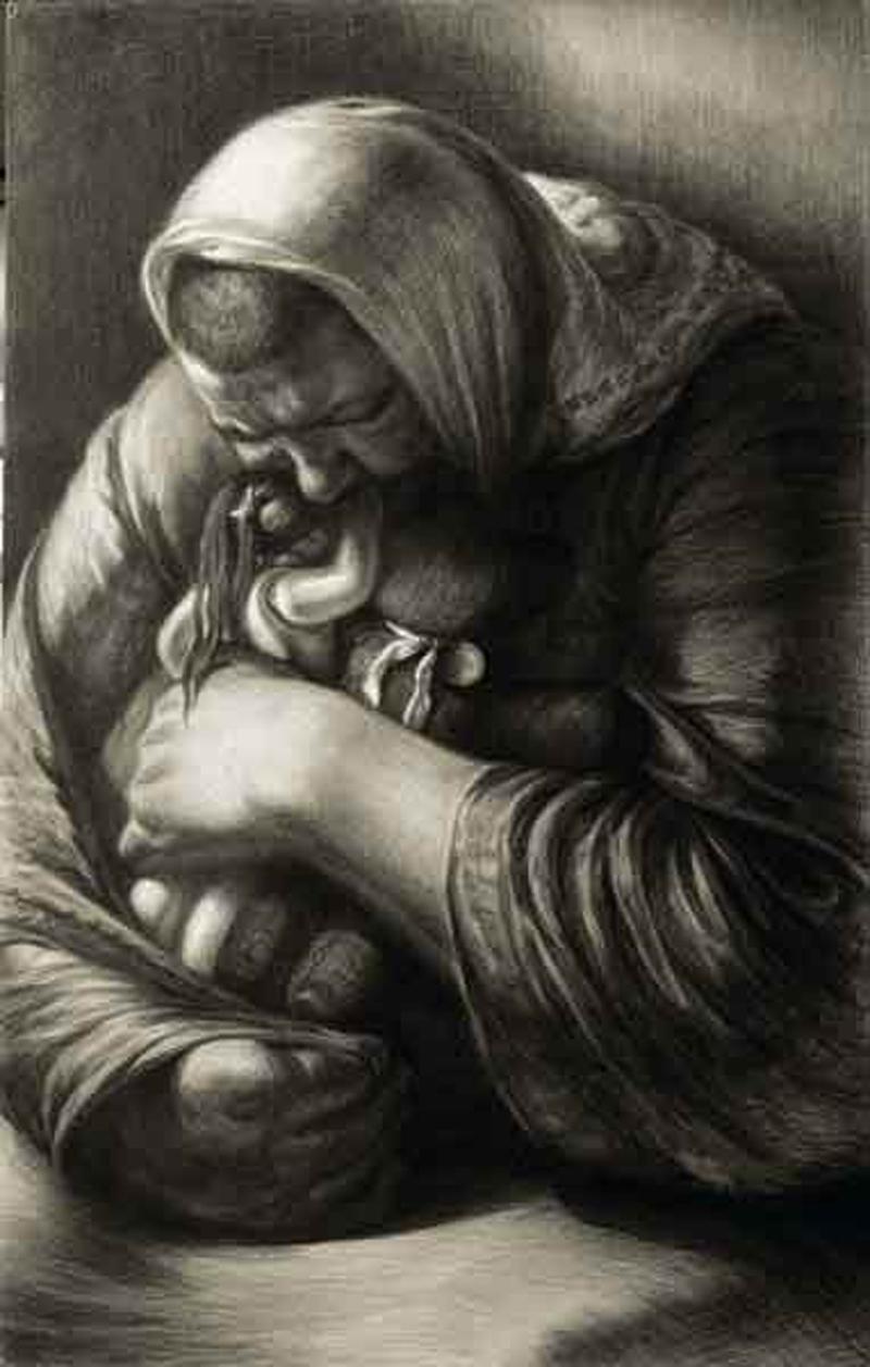 Тихая. Рисунок Геннадия Доброва
