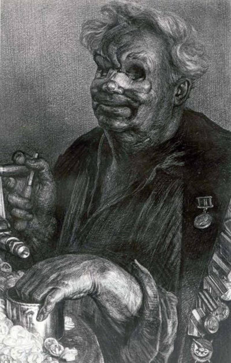 Ветеран. Рисунок Геннадия Доброва