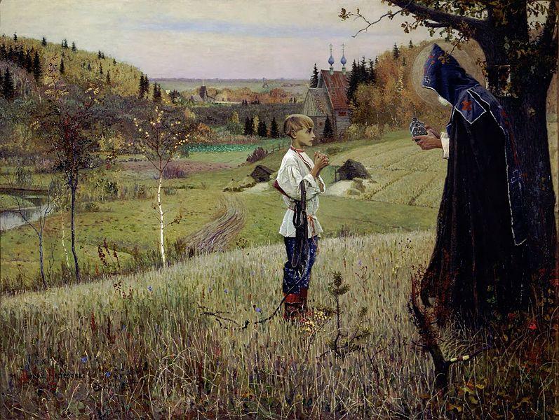 Михаил Васильевич Нестеров, Видение отроку Варфоломею. 1889—1890
