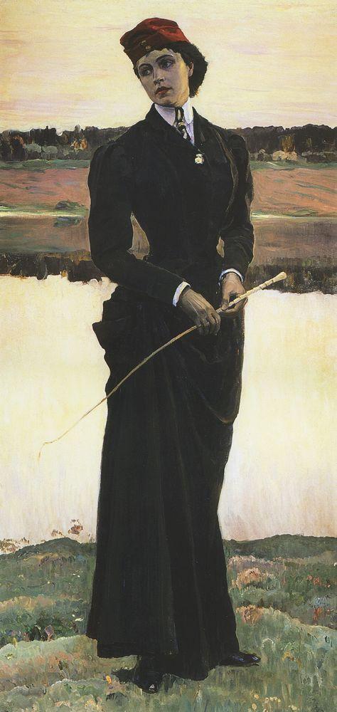 Портрет Ольги Михайловны Нестеровой (Амазонка). 1906