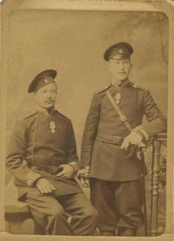 Фёдор Степанович Рубцов во время прохождения службы в драгунском полку Императорской Армии.