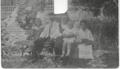 Фото 1918 г. с вырезанным П.Н. Красновым (предположительно)