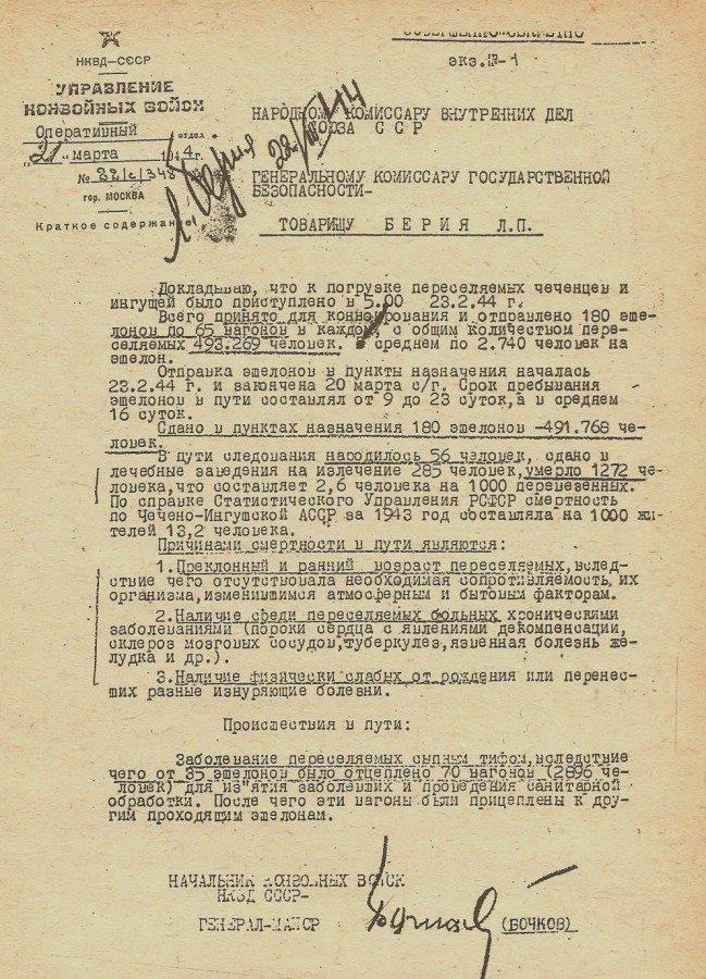 депортация чечено-ингушского народа 23 февраля 1944 года.