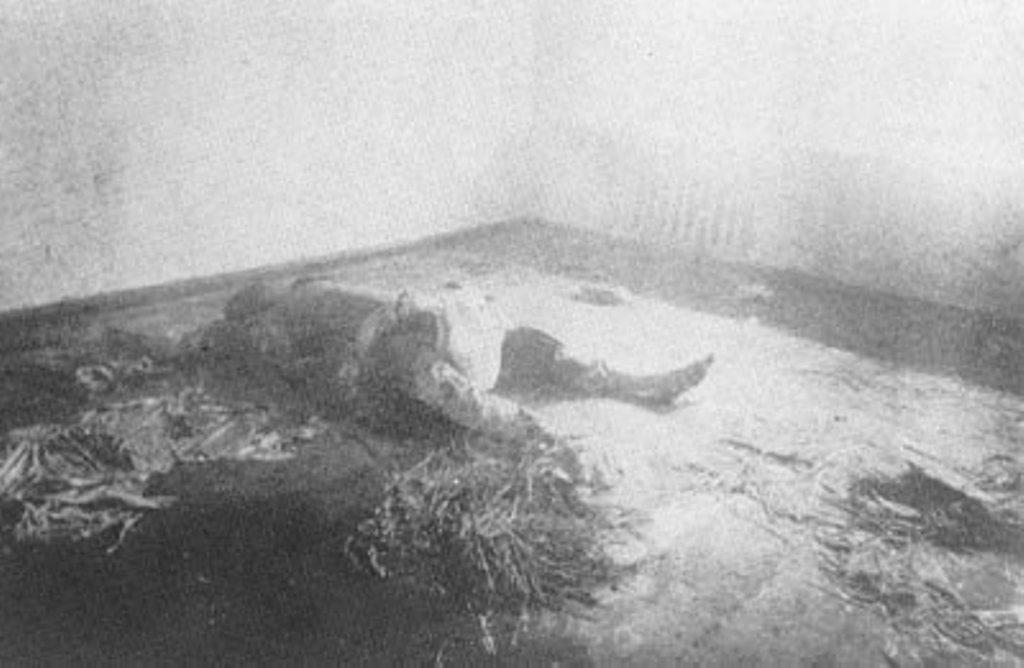 Концлагерь в Харькове. Замученный до смерти.